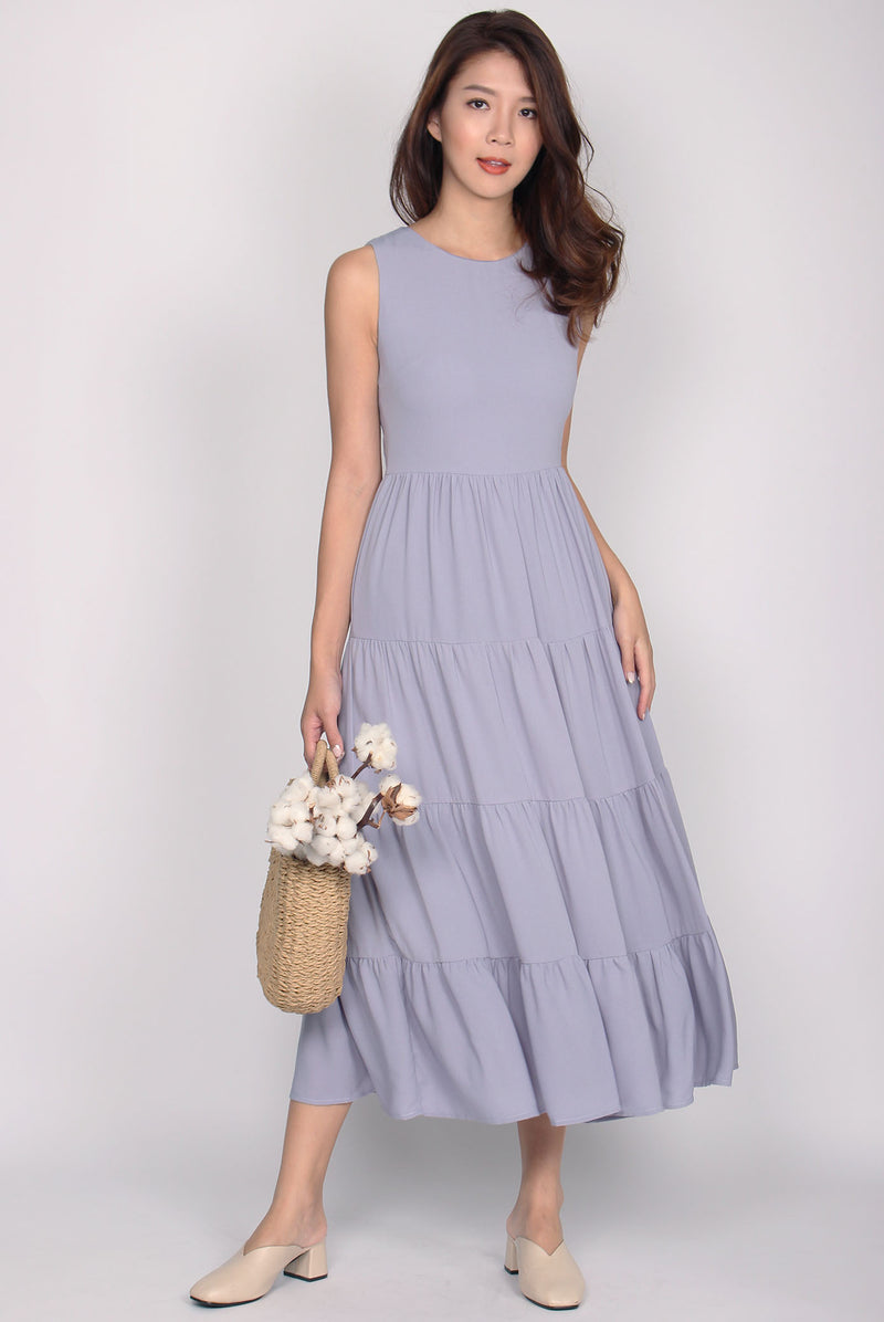 Fidela Tiered Maxi Dress In Lavender