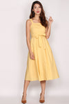 Franci Buttons Sundress In Yellow