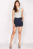 *Restock* Hayley High Waist Shorts In Navy Blue