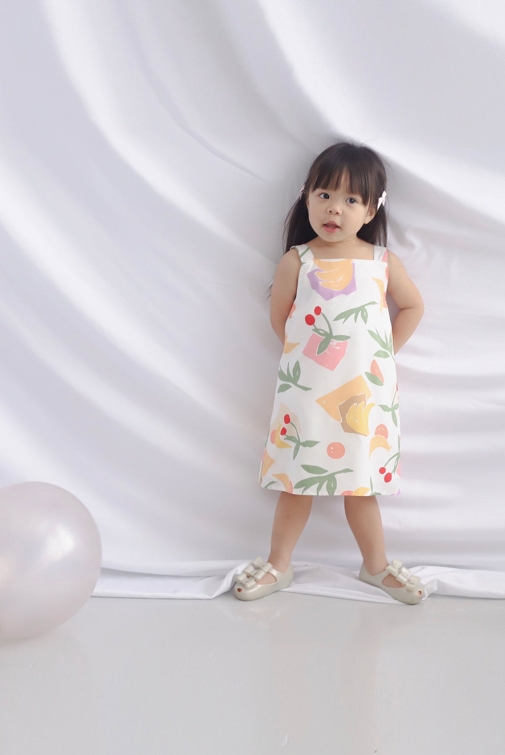 *Kids* Fruits Square Neck Dress