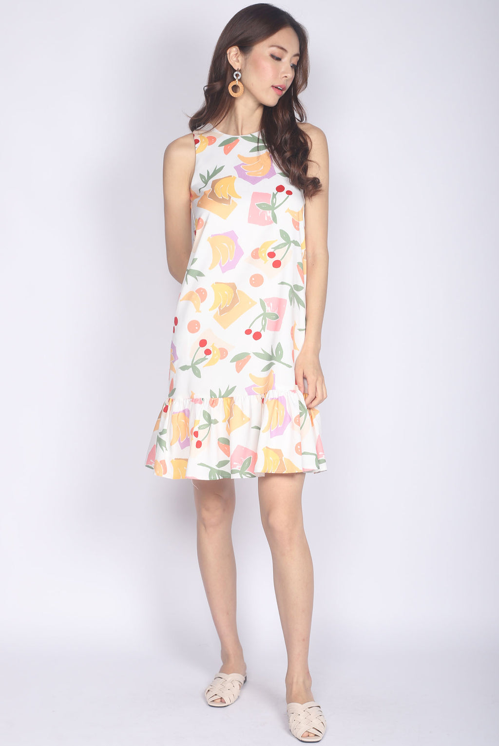 Fruits Drop Waist Dress