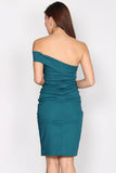 Garner Toga Pencil dress In Teal