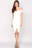 Garner Toga Pencil dress In White
