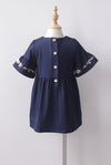 *Kids* Genoveva Embro Tassel Dress In Navy Blue