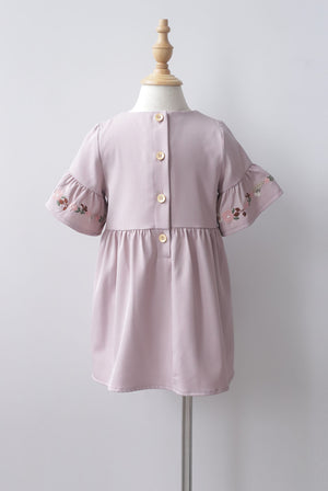 *Kids* Genoveva Embro Tassel Dress In Blush