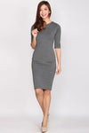 *Restock* Geraldine Sleeve Midi Dress In Dark Grey