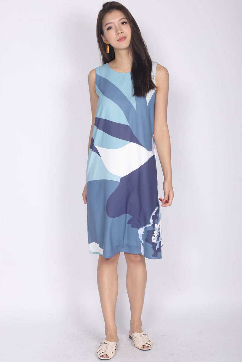 [Exclusive] Ginnifer Two Ways Abstract Dress In Ocean