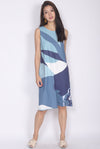 TDC Ginnifer Two Ways Abstract Dress In Ocean