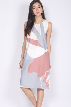 [Exclusive] Ginnifer Two Ways Abstract Dress In Earth