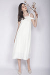 Glynis Drop Shoulder Maxi Dress In Cream