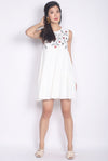 Greta Embroidery Babydoll Dress In White