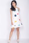 *Restock* Grigoria Abstract Halter Dress In White