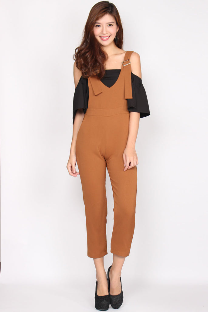 Harlow Jumpsuit In Camel