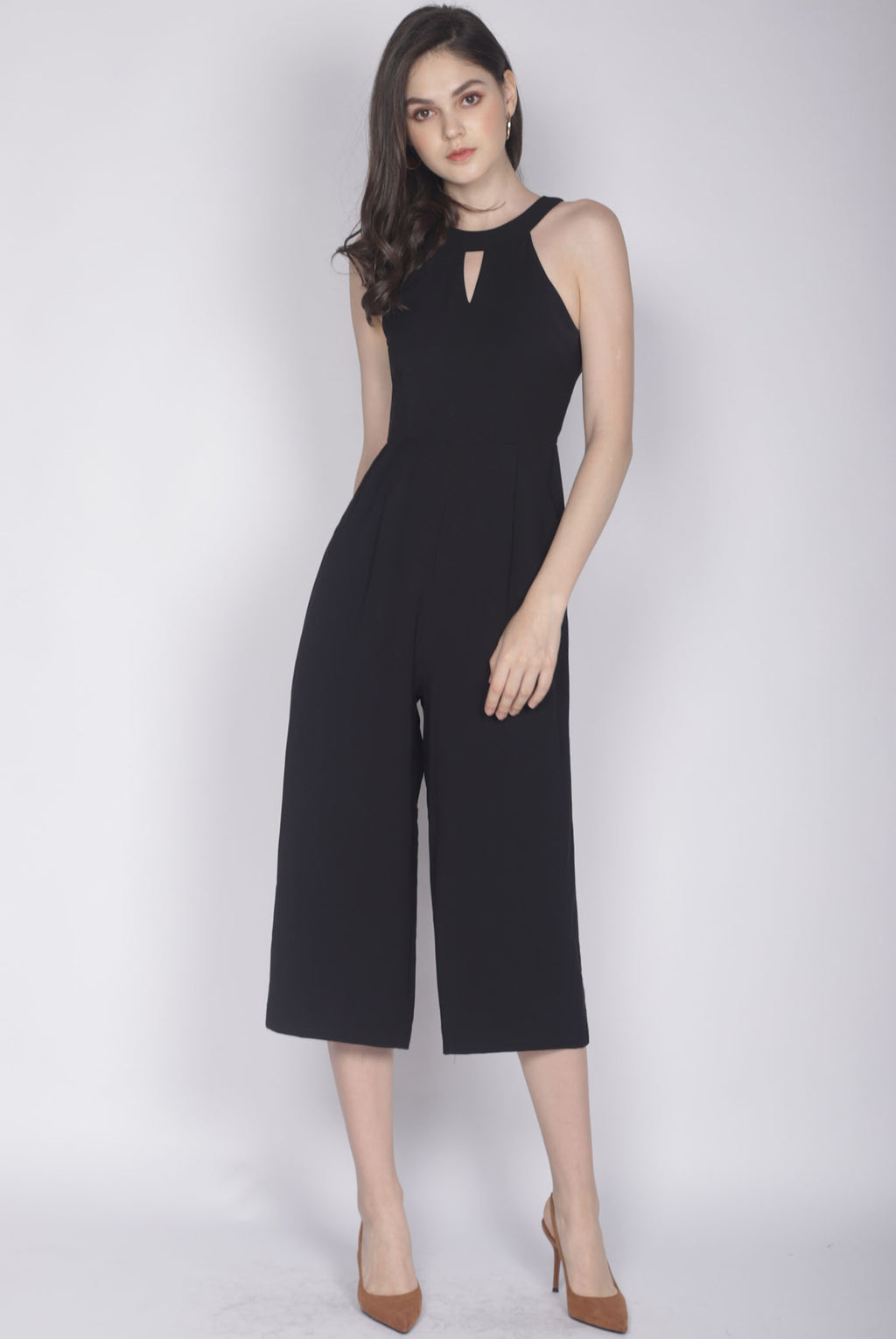 Hedvig Keyhole Jumpsuit In Black