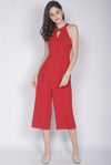 Hedvig Keyhole Jumpsuit In Red