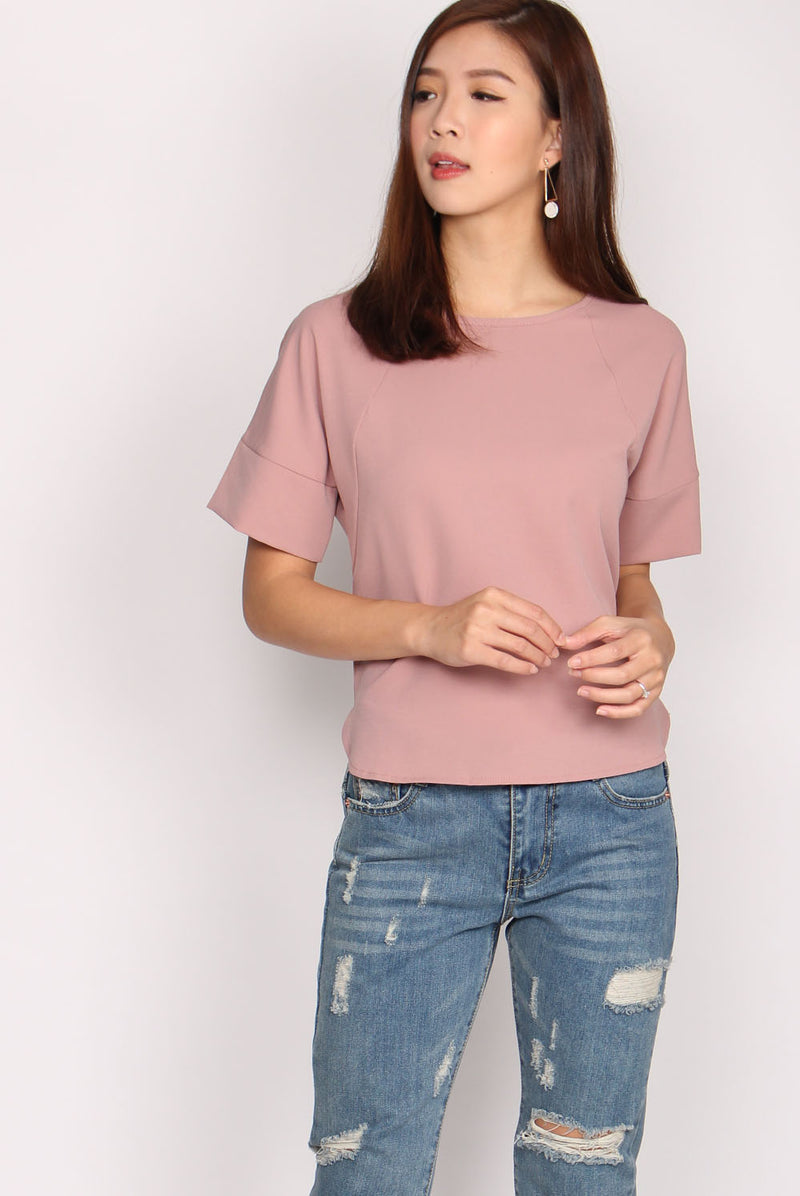 *Restock* Henya Sleeved Top In Blush