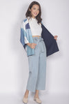 Ichene Flower Reversible Kimono Outerwear In Blue