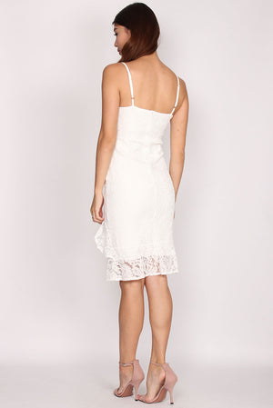 Iretia Lace Mermaid Dress In White