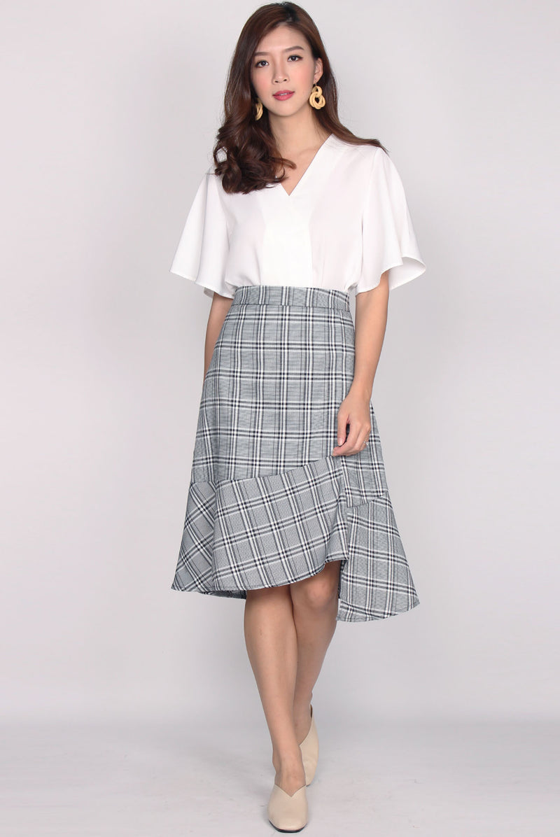 Irsia Ladder Skirt In Plaids
