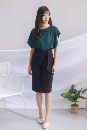Irys Batwing Top In Forest Green