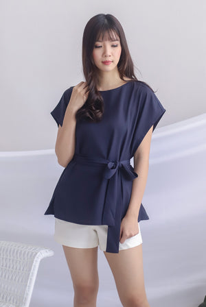 Irys Batwing Top In Navy Blue
