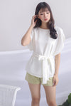 Irys Batwing Top In White