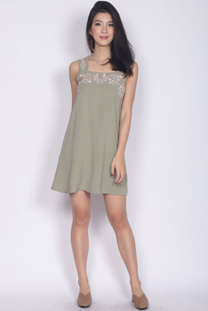 Isolde Embro Strap Dress In Saga