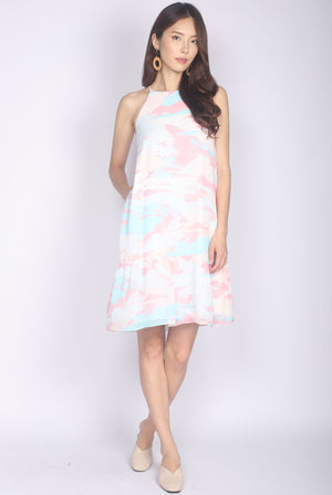 Izzie Paddlepod Halter Dress In Pink