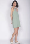 Jadeyn Embroidery Tank Dress In Sage