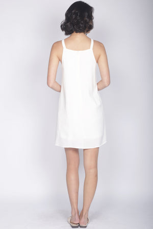 Jadeyn Embroidery Tank Dress In White