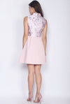 *Premium* Jadie Oriental Emboss Cheong Sam Dress In Pink