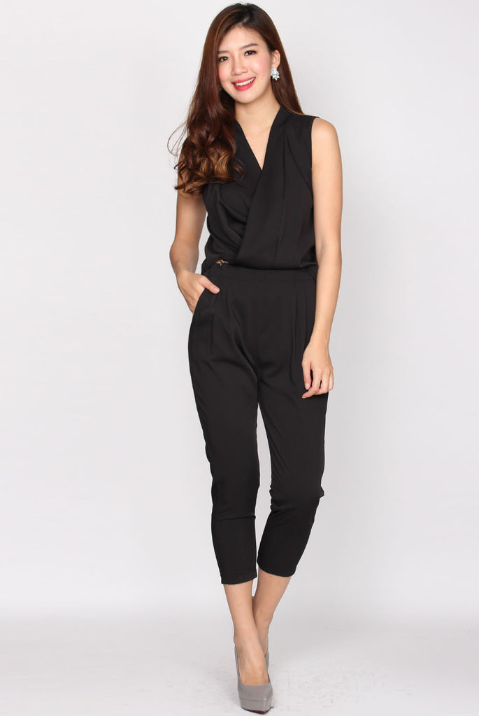 Jen 2 Pieces Jumpsuit In Black