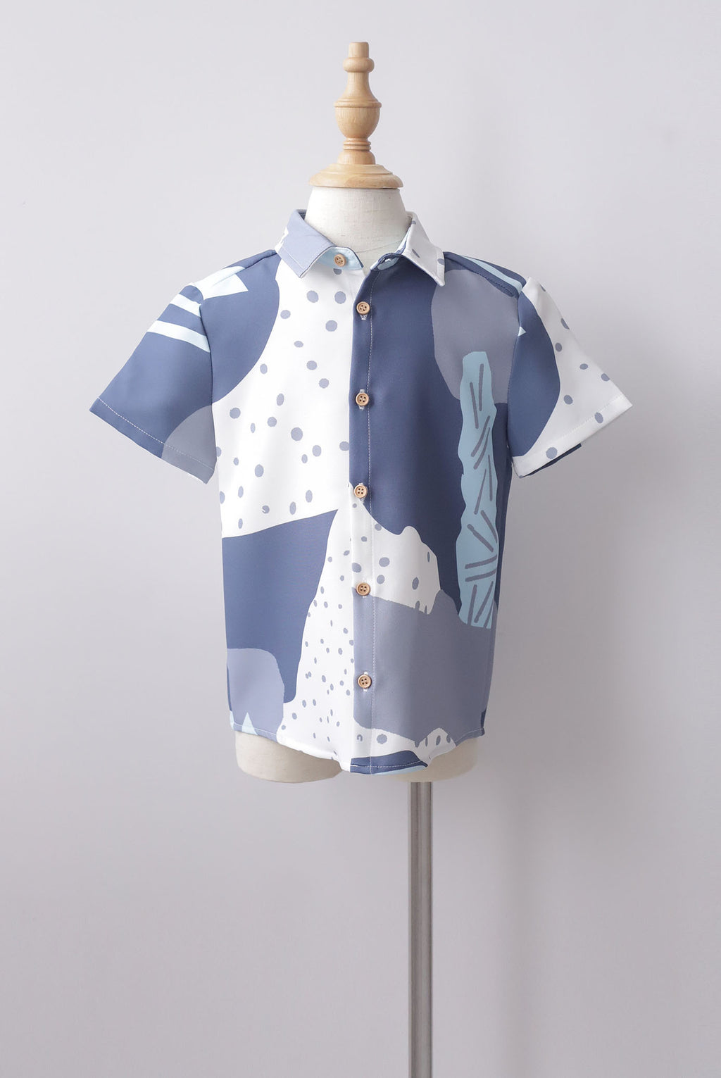 *Kids* Jodie Abstract Dots Shirt In Blue