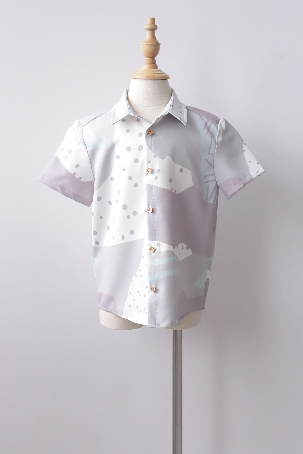 *Kids* Jodie Abstract Dots Shirt In Green