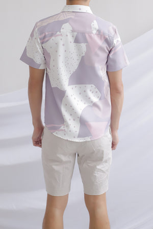 Jodie Abstract Dots Shirt In Lilac