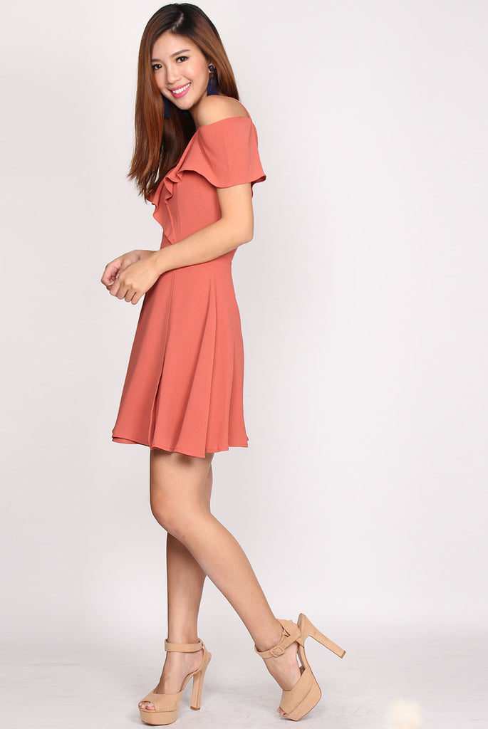 *Restock* Jolynn Flutter 2 Ways Dress In Terracotta