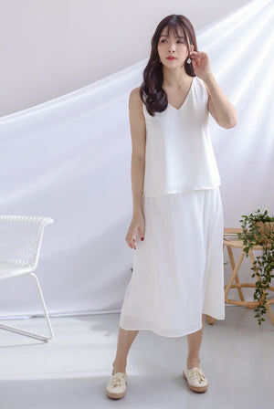 Josefin A Line Skirt In White