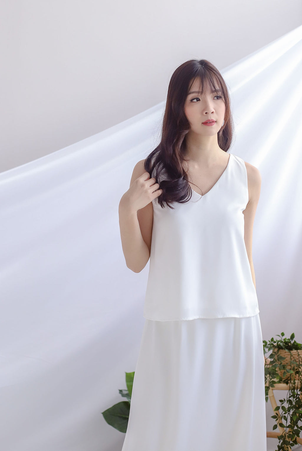 Josefin Two Ways Tank Top In White