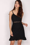 *Restock* Juditha Eyelet Mermaid Dress In Black