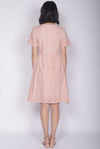 *Restocked* Kacie Eyelet Sleeved Dress In Peach Pink