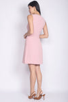 Kati Buttons Waistband Dress In Blush