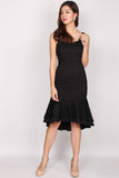 Katie Lace Overlay Mermaid Dress In Black