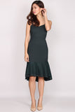 *BACKORDER* Katie Lace Overlay Mermaid Dress In Forest Green