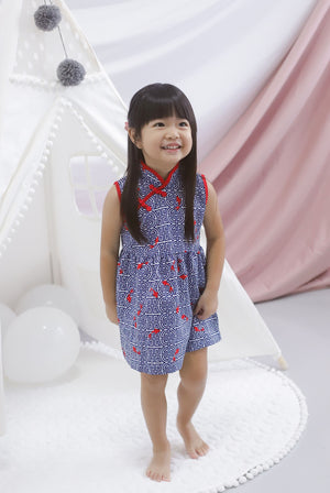 *Kids* Prosperity Fish Cheongsam Dress
