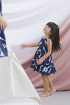 *Kids* Seraph Arrows Babydoll Dress In Navy Blue