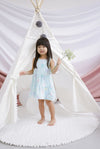 *Kids* Seraph Arrows Babydoll Dress In Skyblue