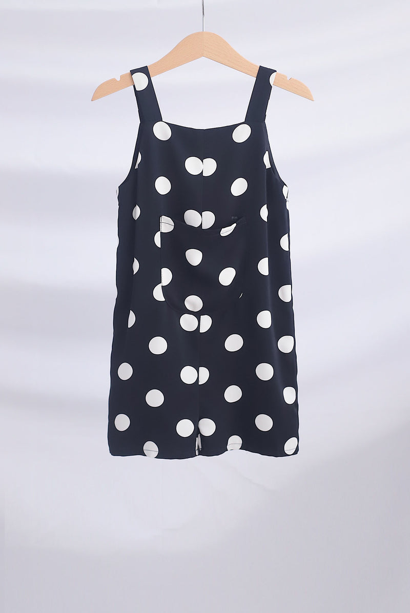 *Kids* Edwige Polkadot Romper In Black