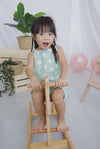 *Kids* Edwige Polkadot Romper In Mint Green