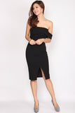 *Restock* Laurie Drop Toga Dress In Black