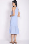 Libbie Halter Dropwaist Dress In Skyblue